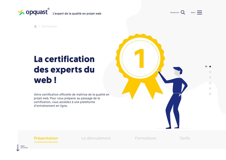 Refonte du site  Opquast