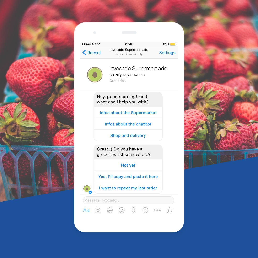 Chatbot - Groceries and Delivery