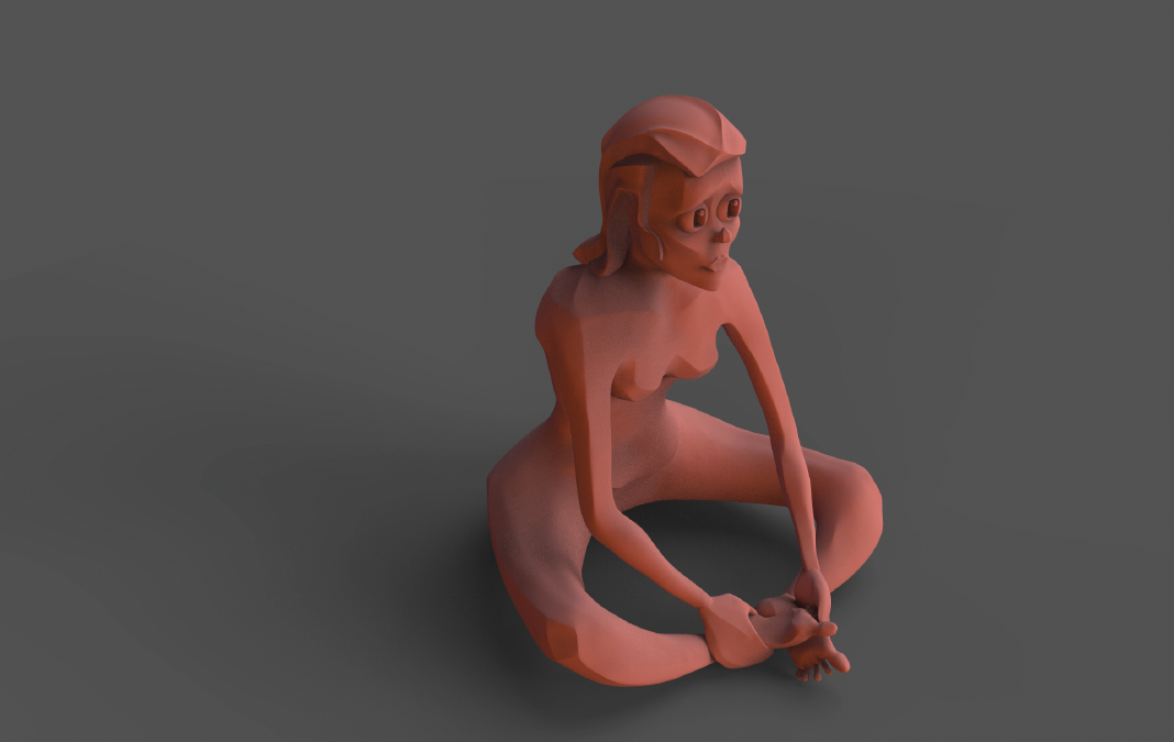 A sculpture of Dandara that I did in the hope that people would remember her murder