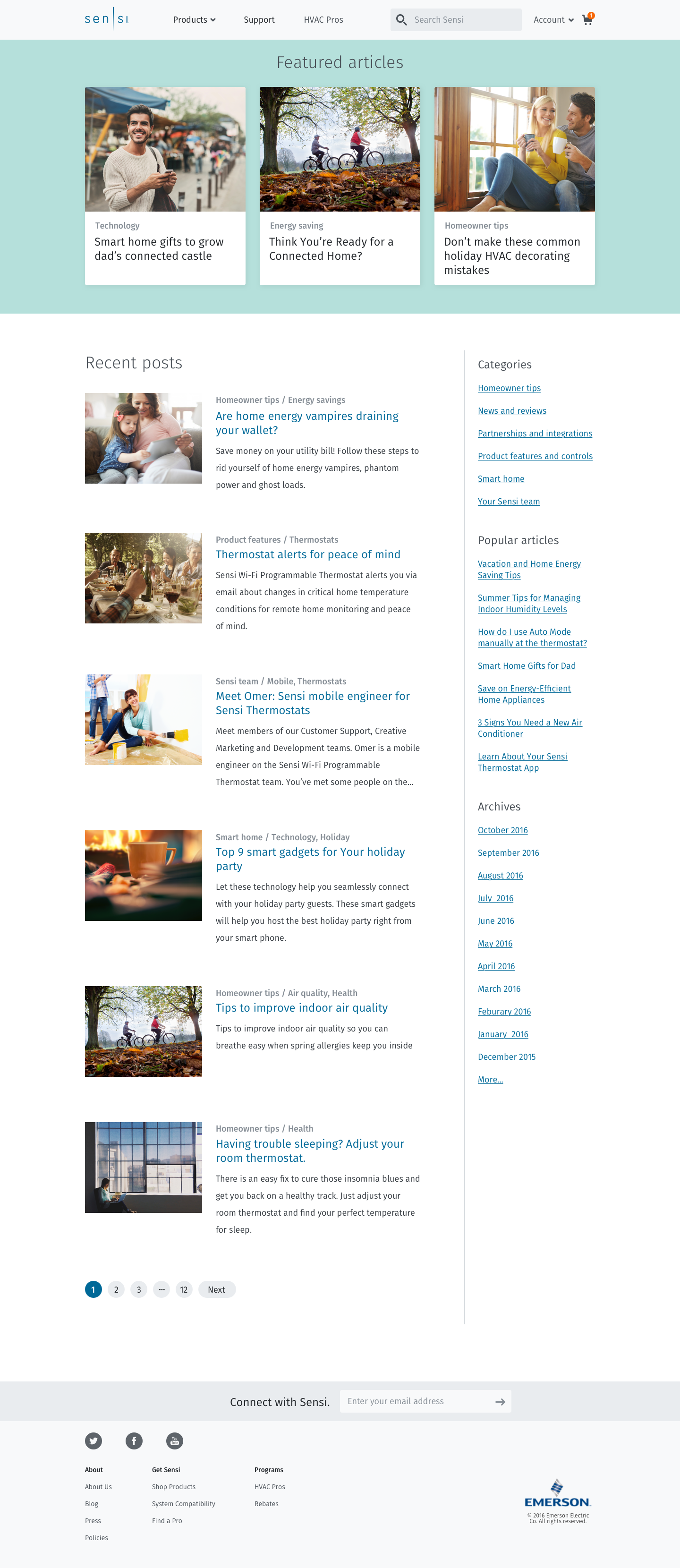 Sensi Website