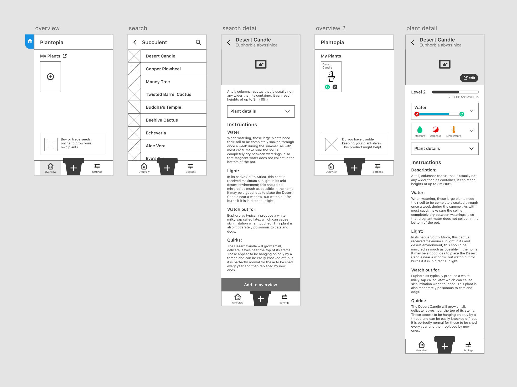 3rd iteration of the wireframes
