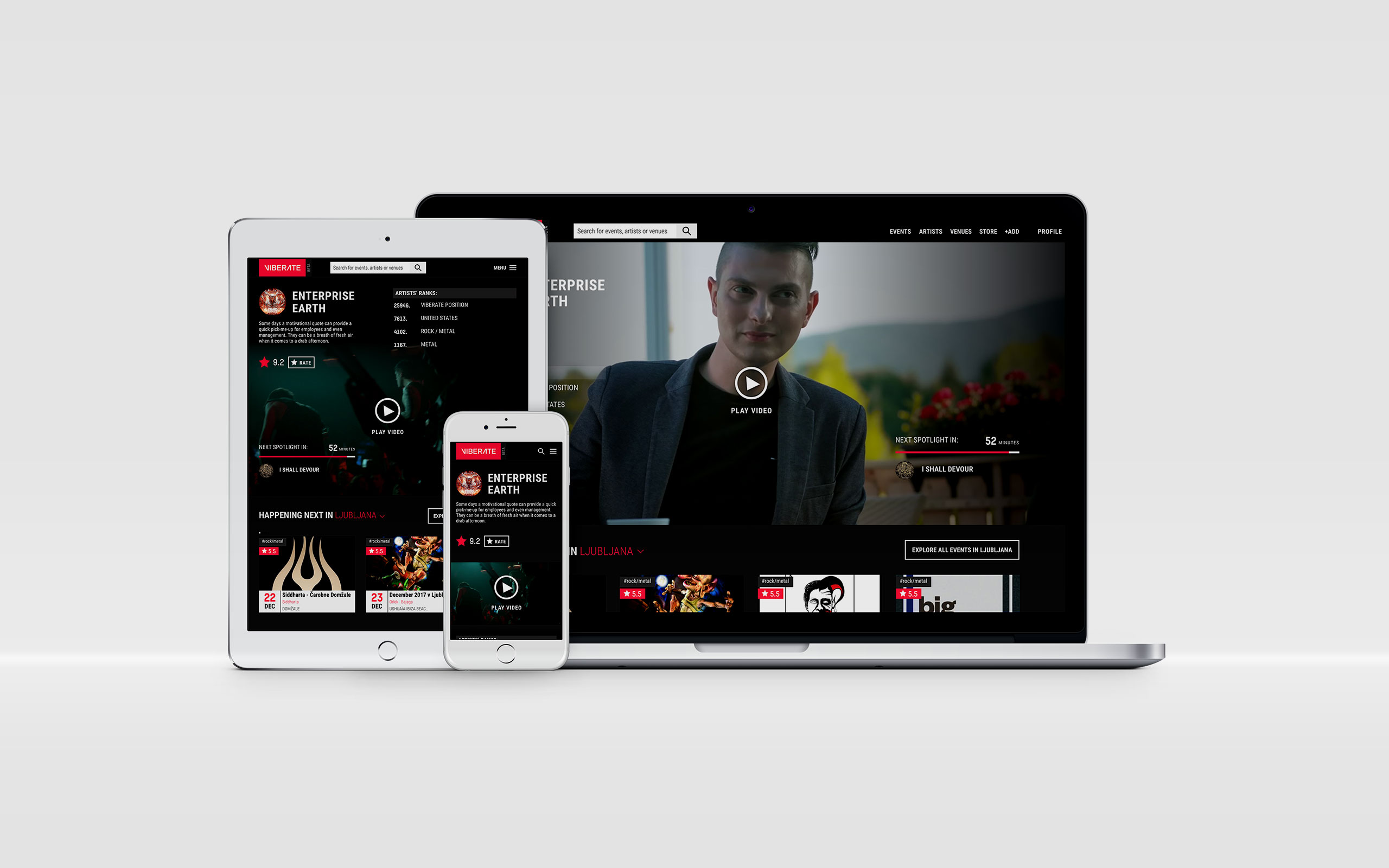 Designing The New Viberate Homepage