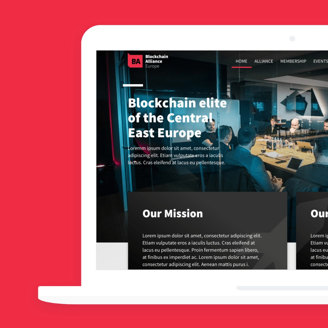 Blockchain Alliance Europe Website