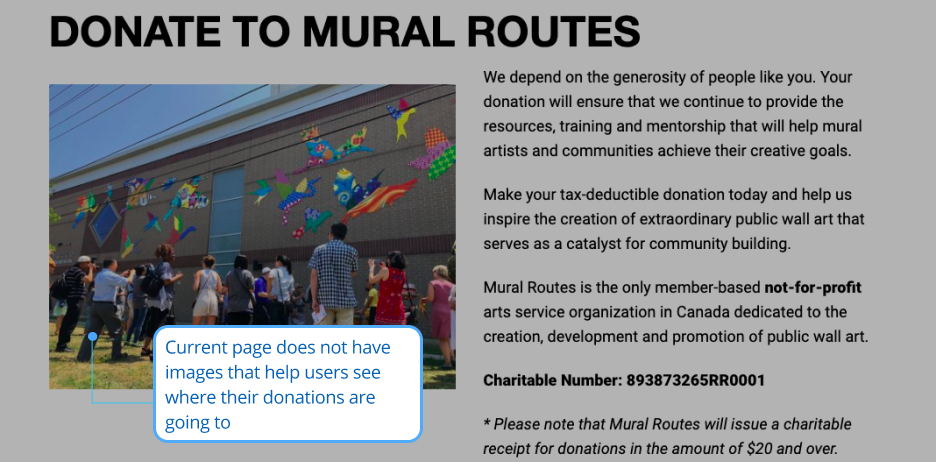 Existing Donations Page