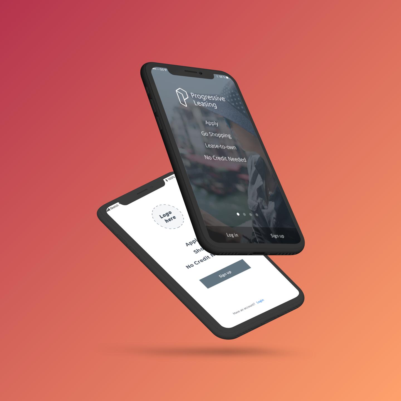 Login/Sign up screens