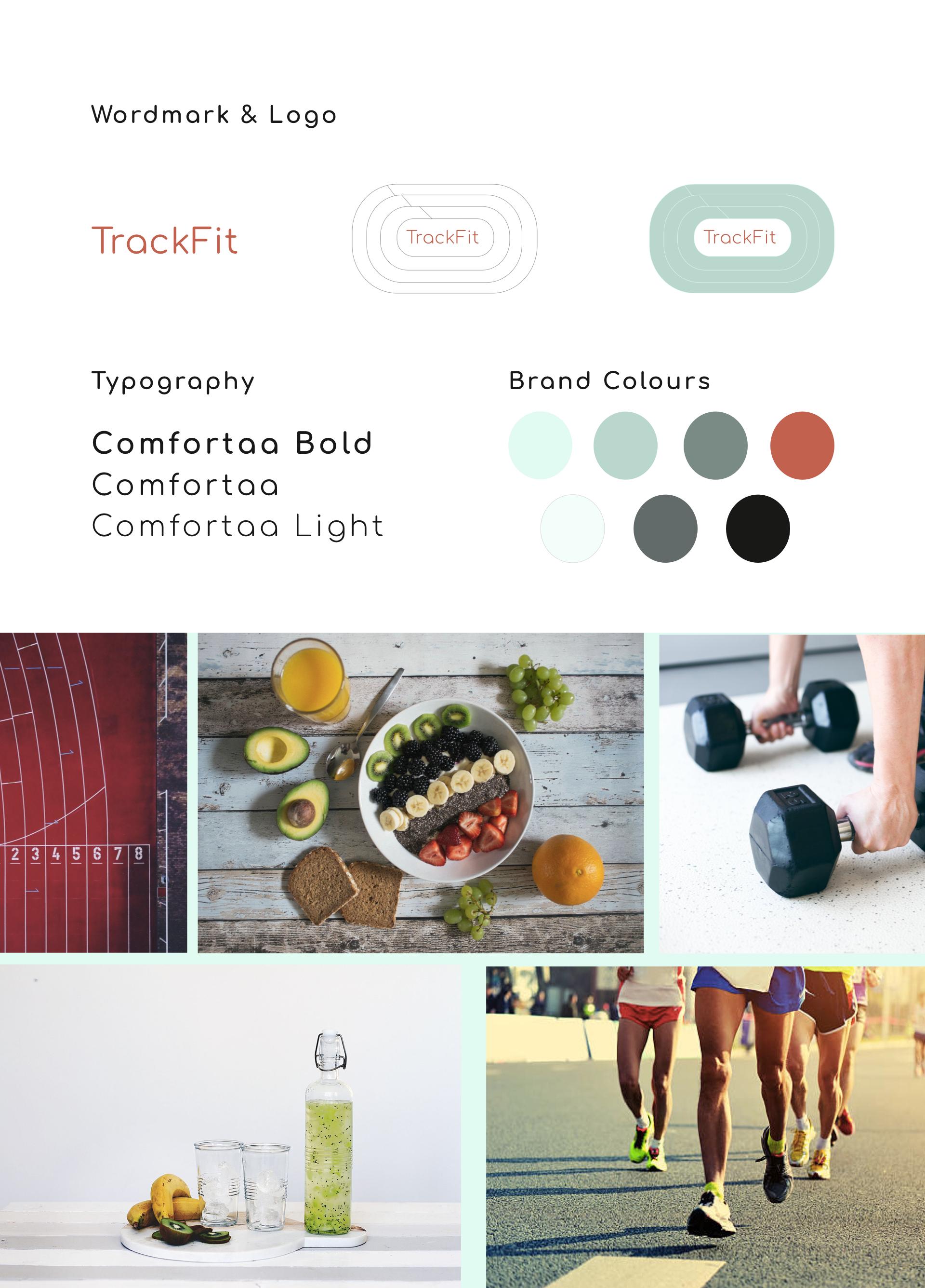 TrackFit brand & moodboard