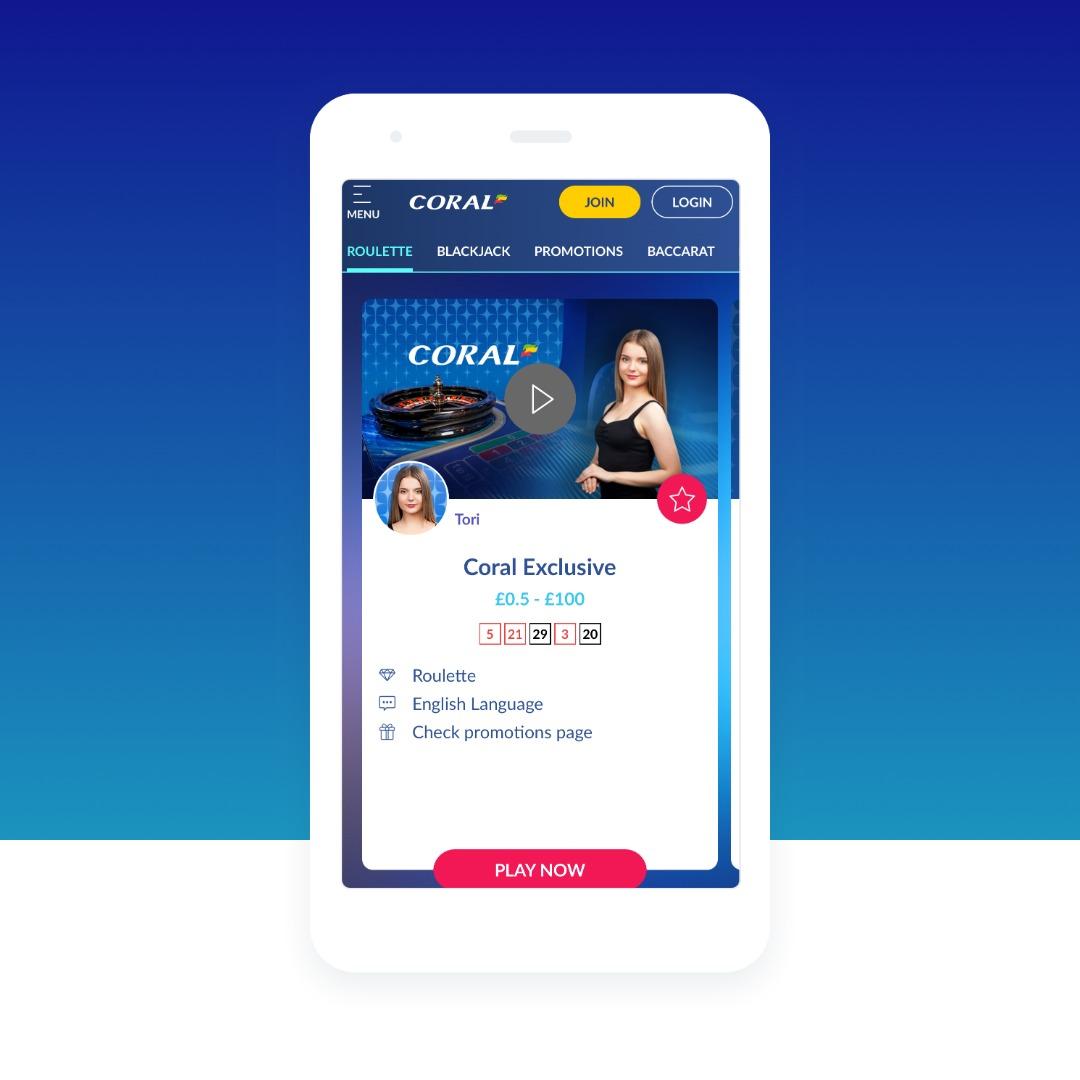 Coral's Live Dealer iOS App
