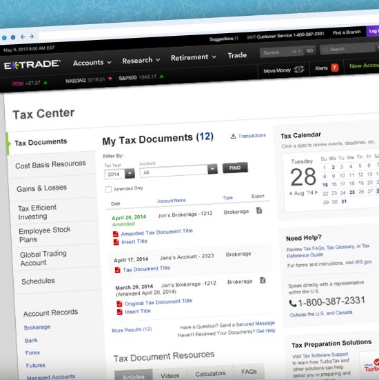 E*TRADE Tax Center