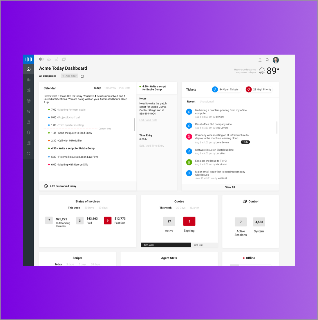 Product Suite  Dashboard
