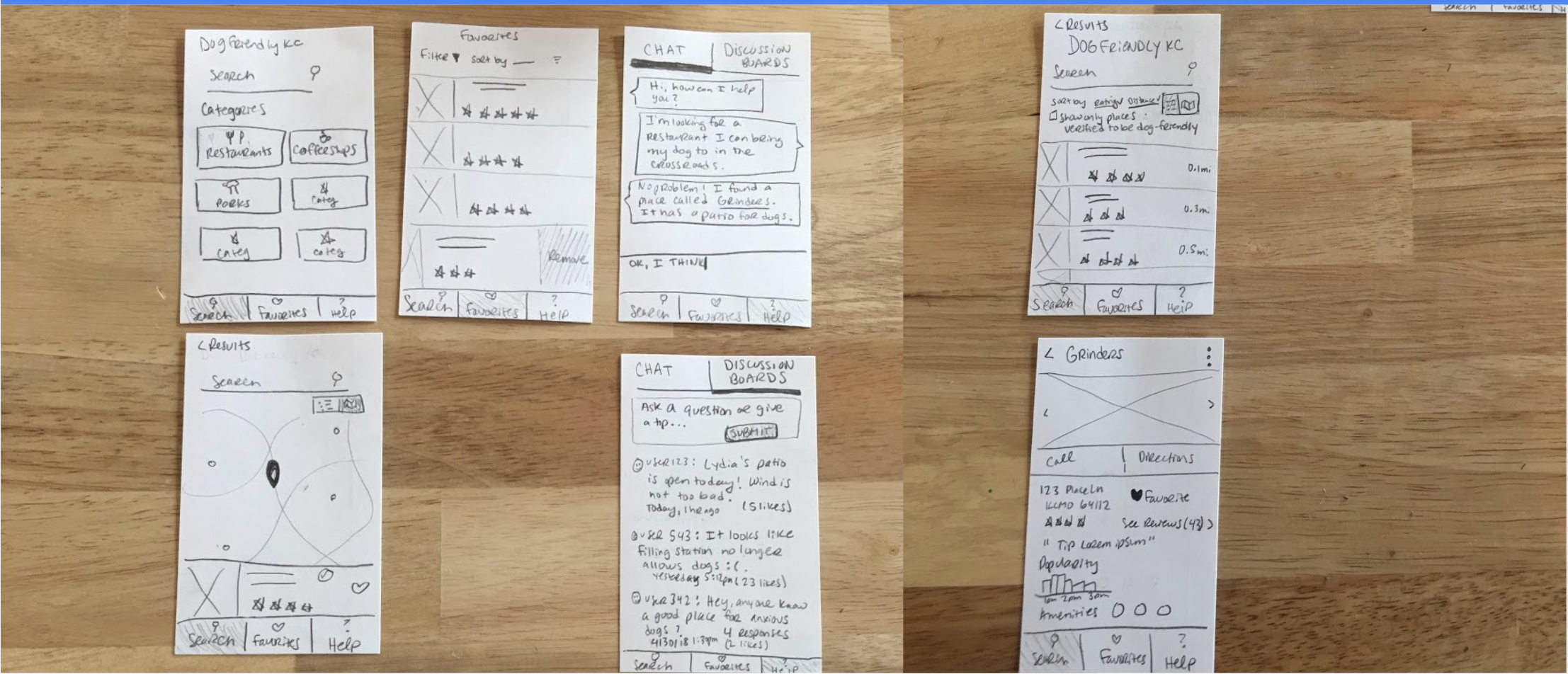 Wireframe Sketches & Paper Prototyping