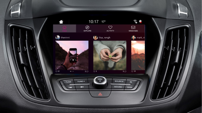 UX Case study: Instagram in a car