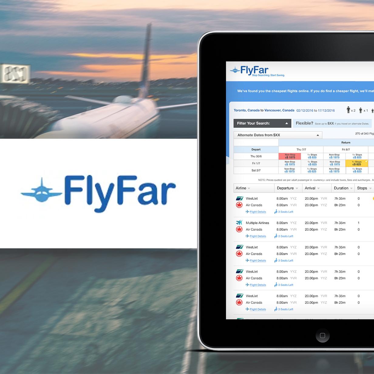 FlyFar.ca Redesign