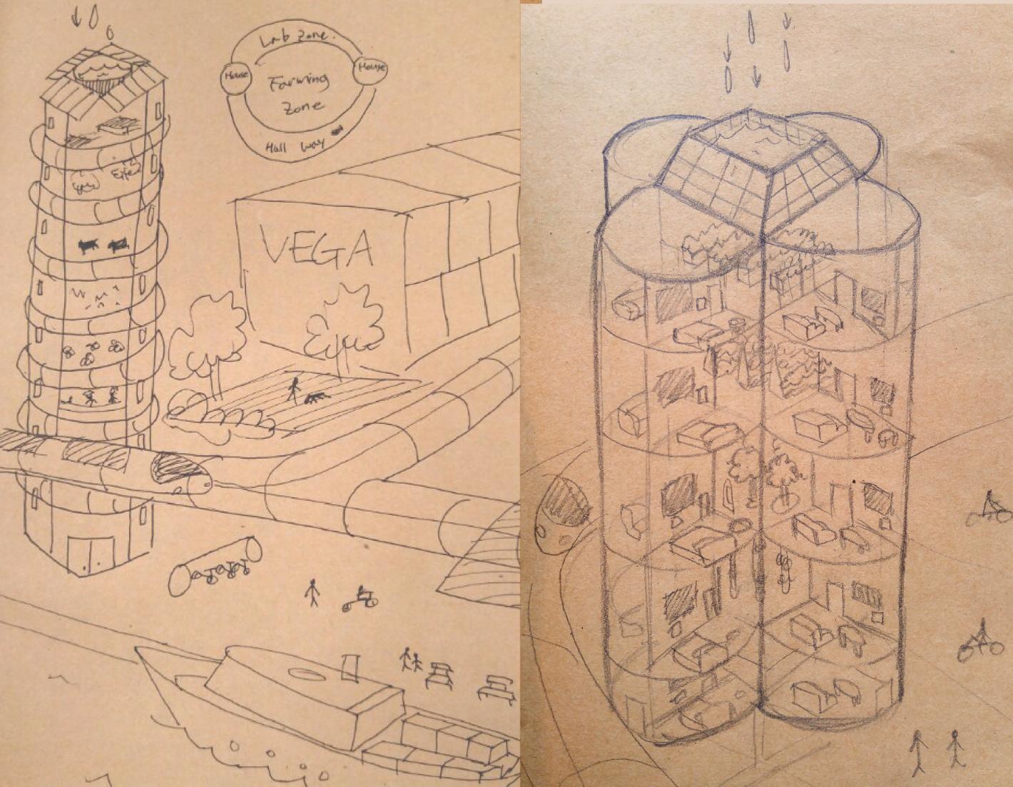 Final sketch design concept