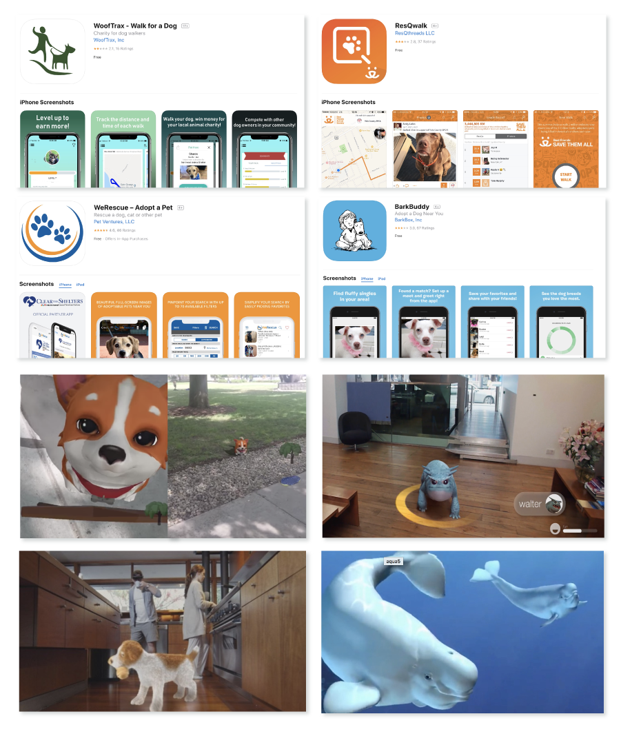 Pet- adoption Mobile Applications & AR application precedentsTo see more about this research
