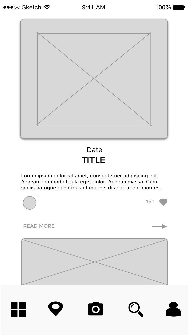 Screen design displayed in a mockup