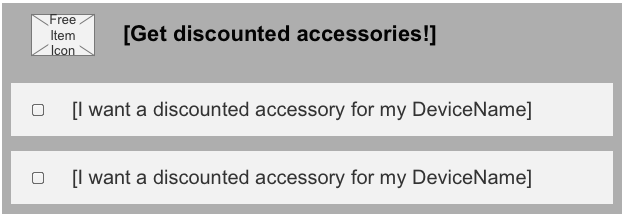 Free and Discounted Accessories