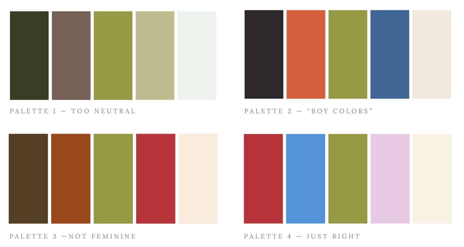 Color swatch studies
