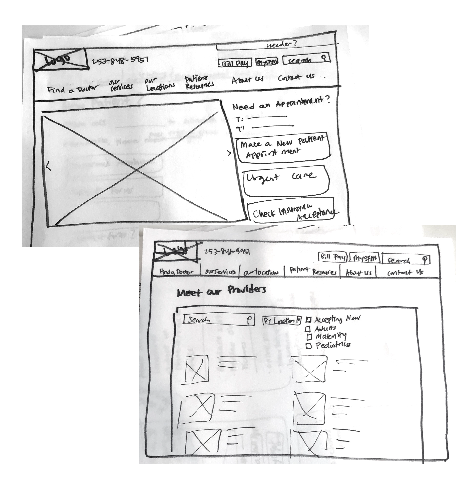 Sketches used for testing