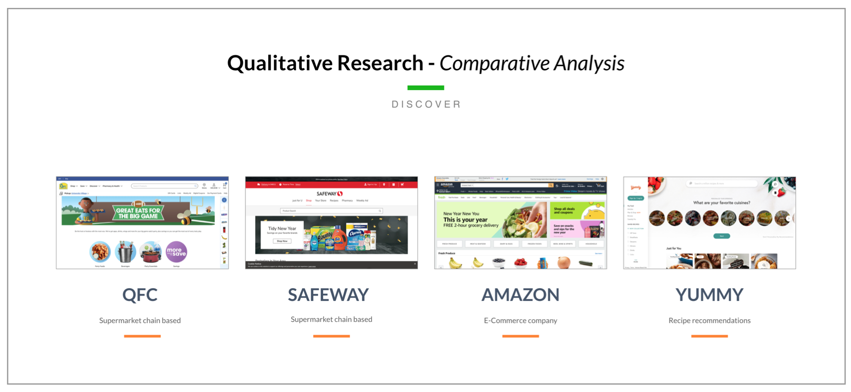 Side-by-side landing page comparison