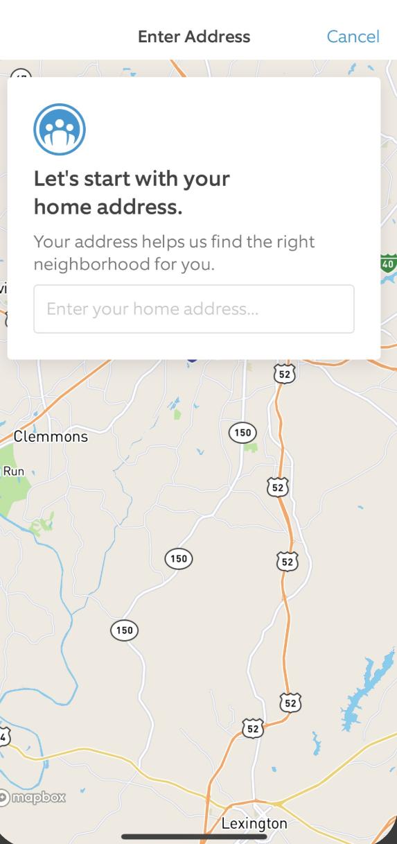Neighbors Map Screen