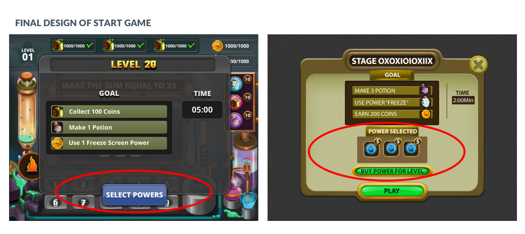 Select power flow Improvement