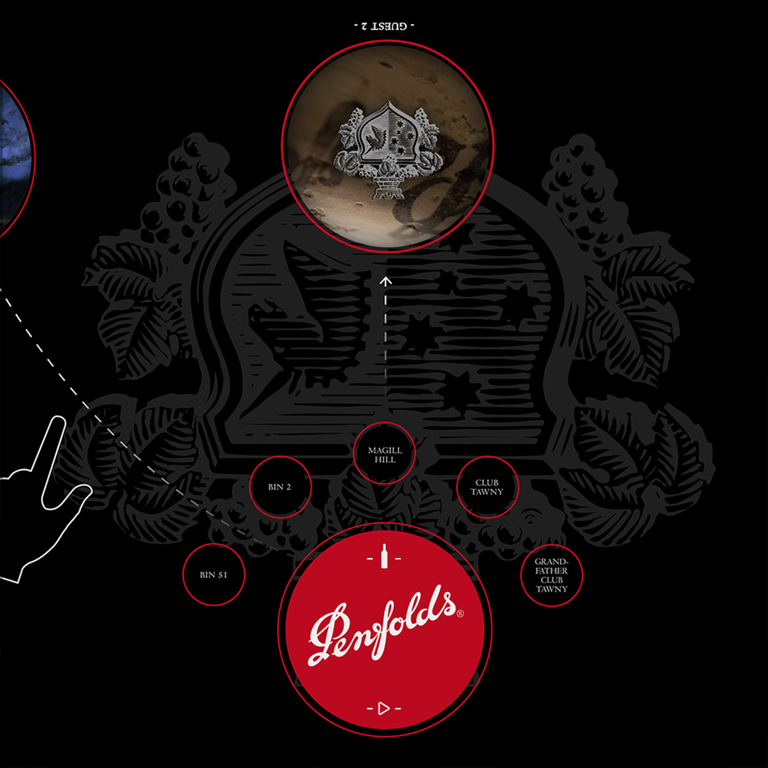 Penfolds Interactive Wine Tasting Table