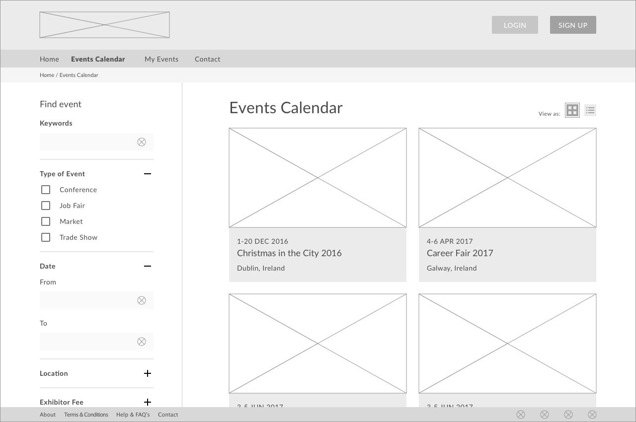 Event Exhibitor Portal