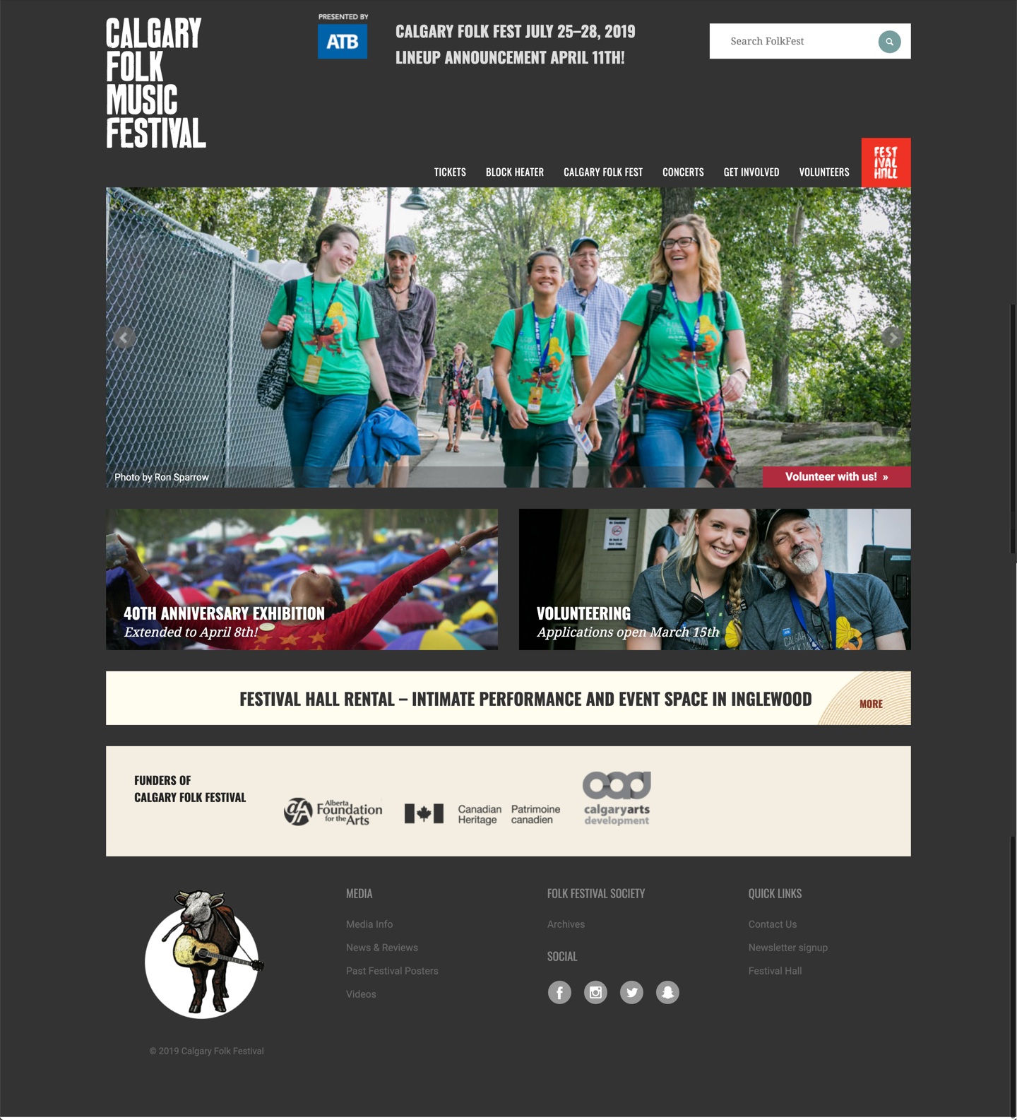 The original Folk Fest homepage