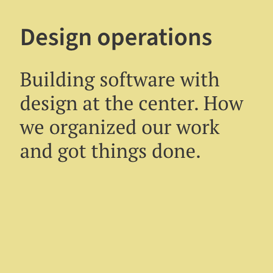 Design Operations