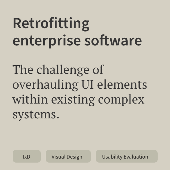 Retrofitting enterprise software