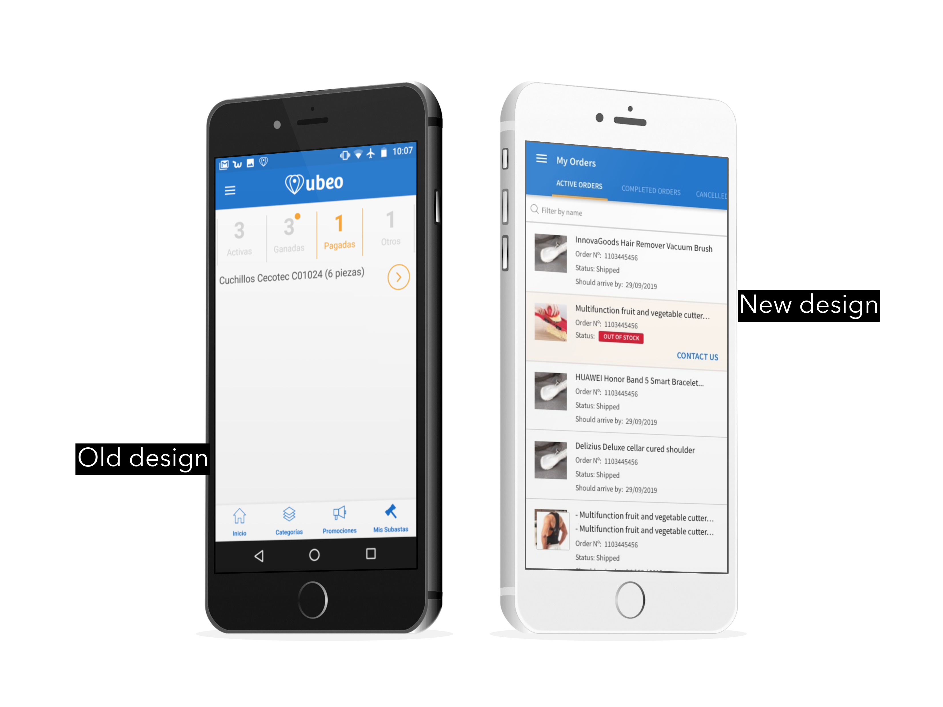 Ecommerce android app redesign