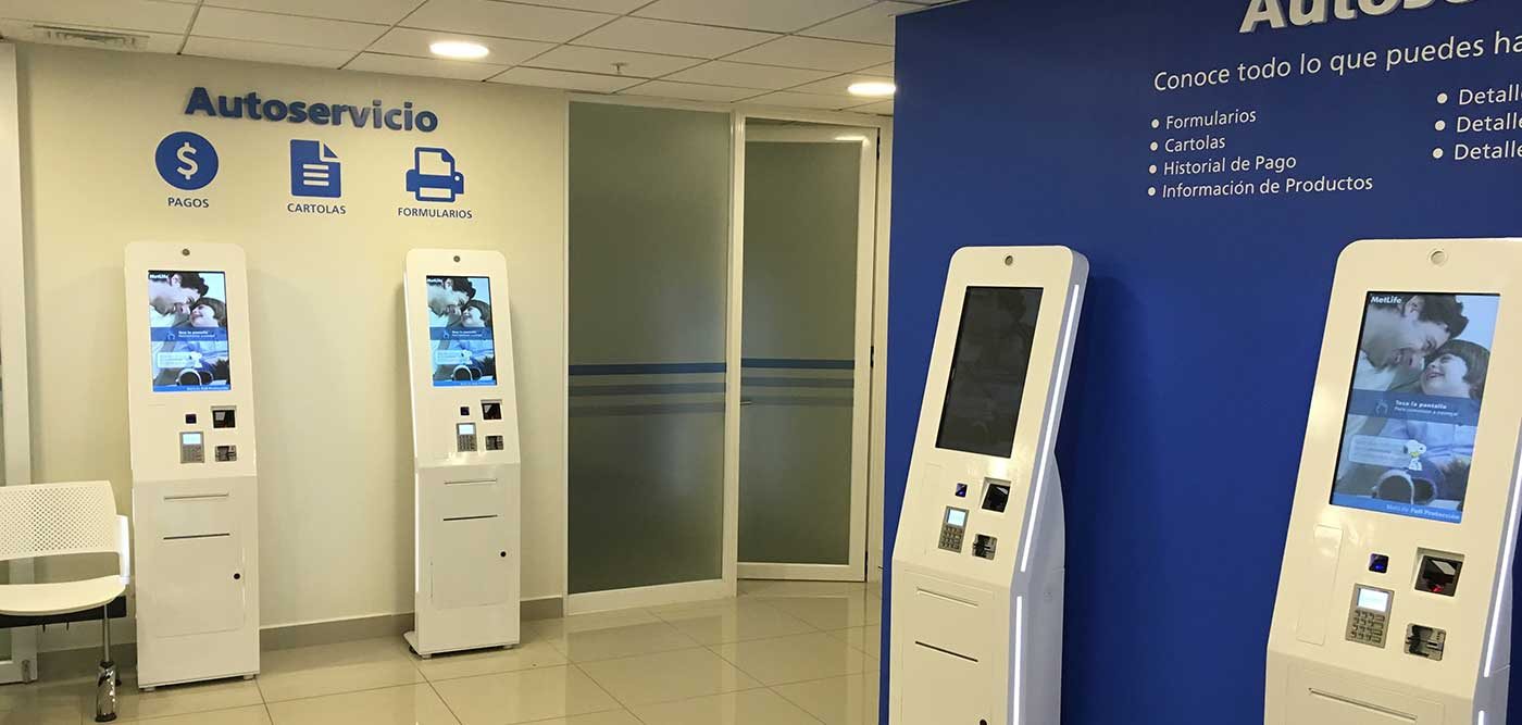 Delivered e-kiosk in Santiago de Chile's office