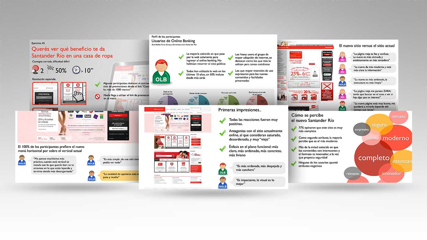 Santander Rio. Website's redesign