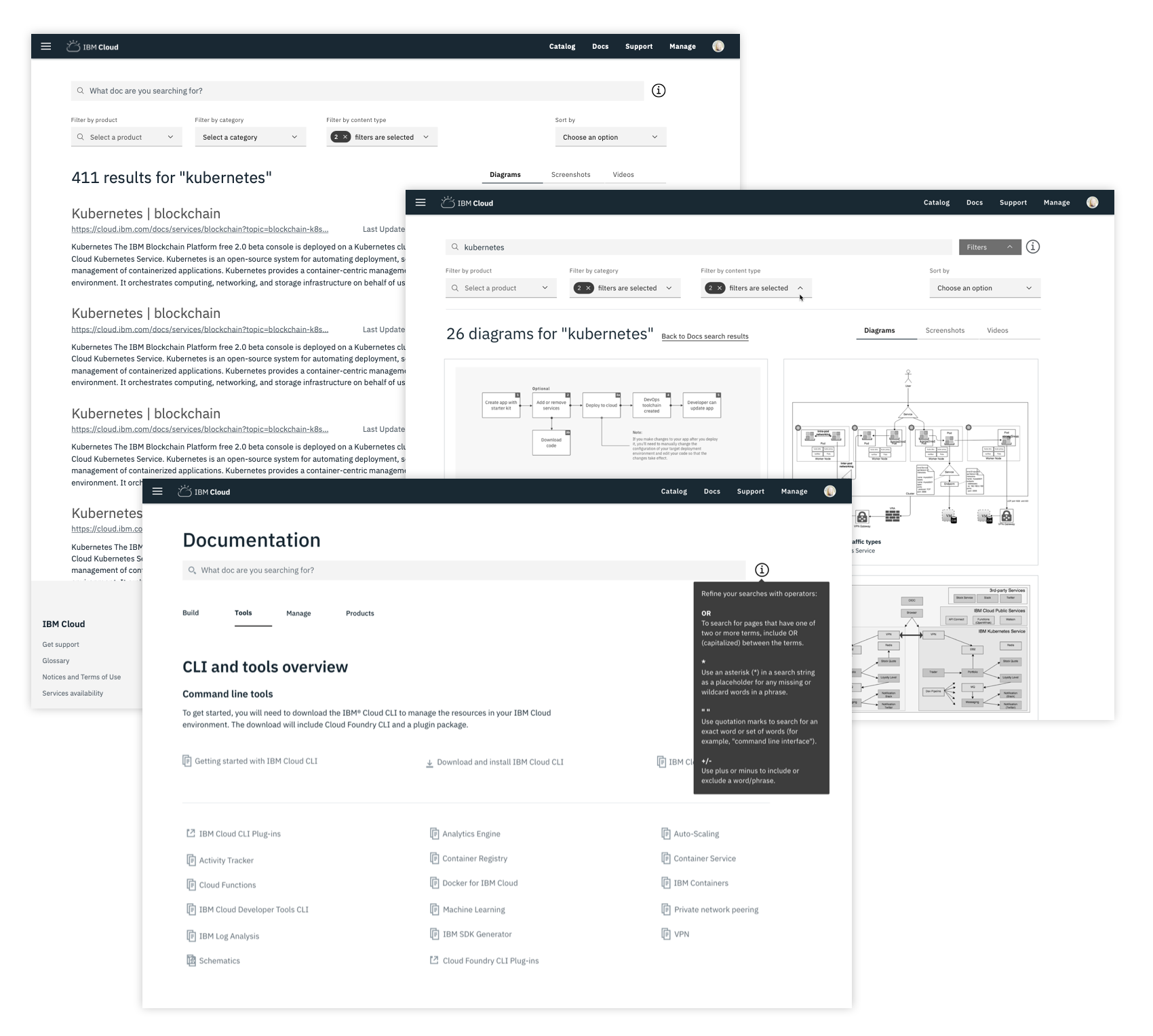 Guided Search for IBM Cloud Documentation