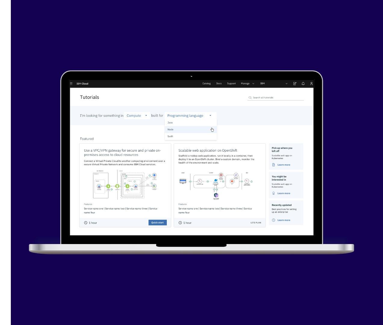 Tutorials for IBM Cloud Documentation