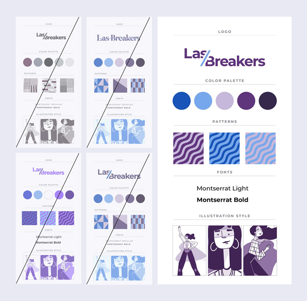 Branding process of Las Breakers.