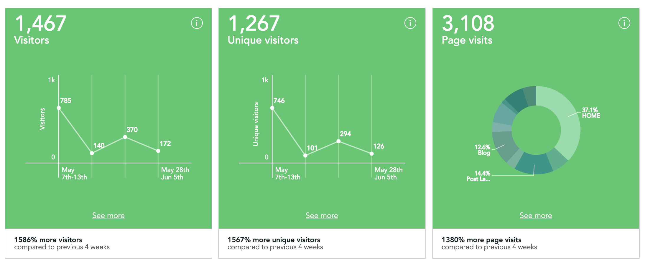 Visitor Analytics after a week of Launching