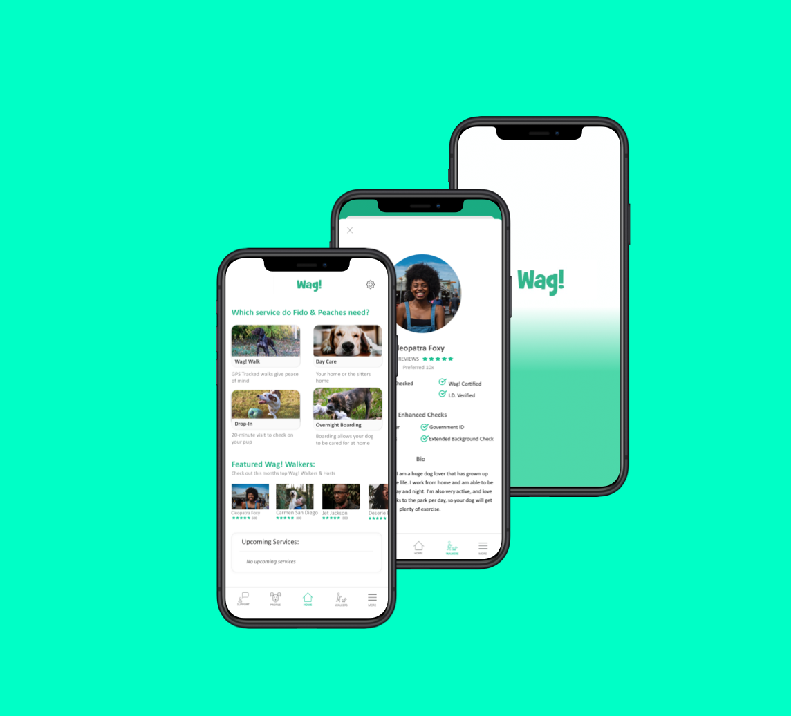 Wag Mobile App Re-Design - UX