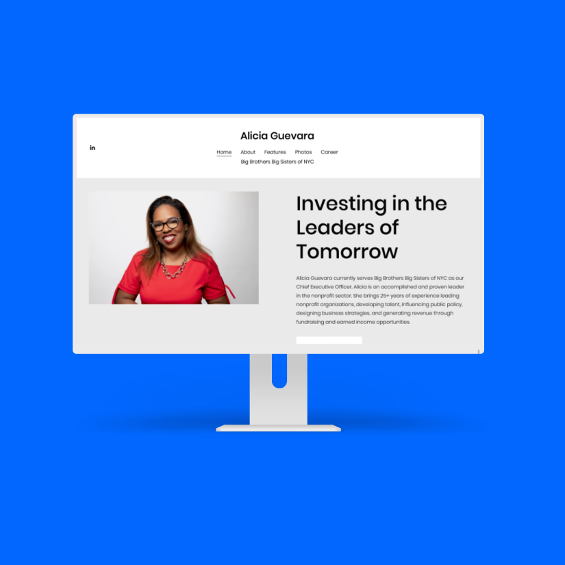 Personal Portfolio Website for CEO