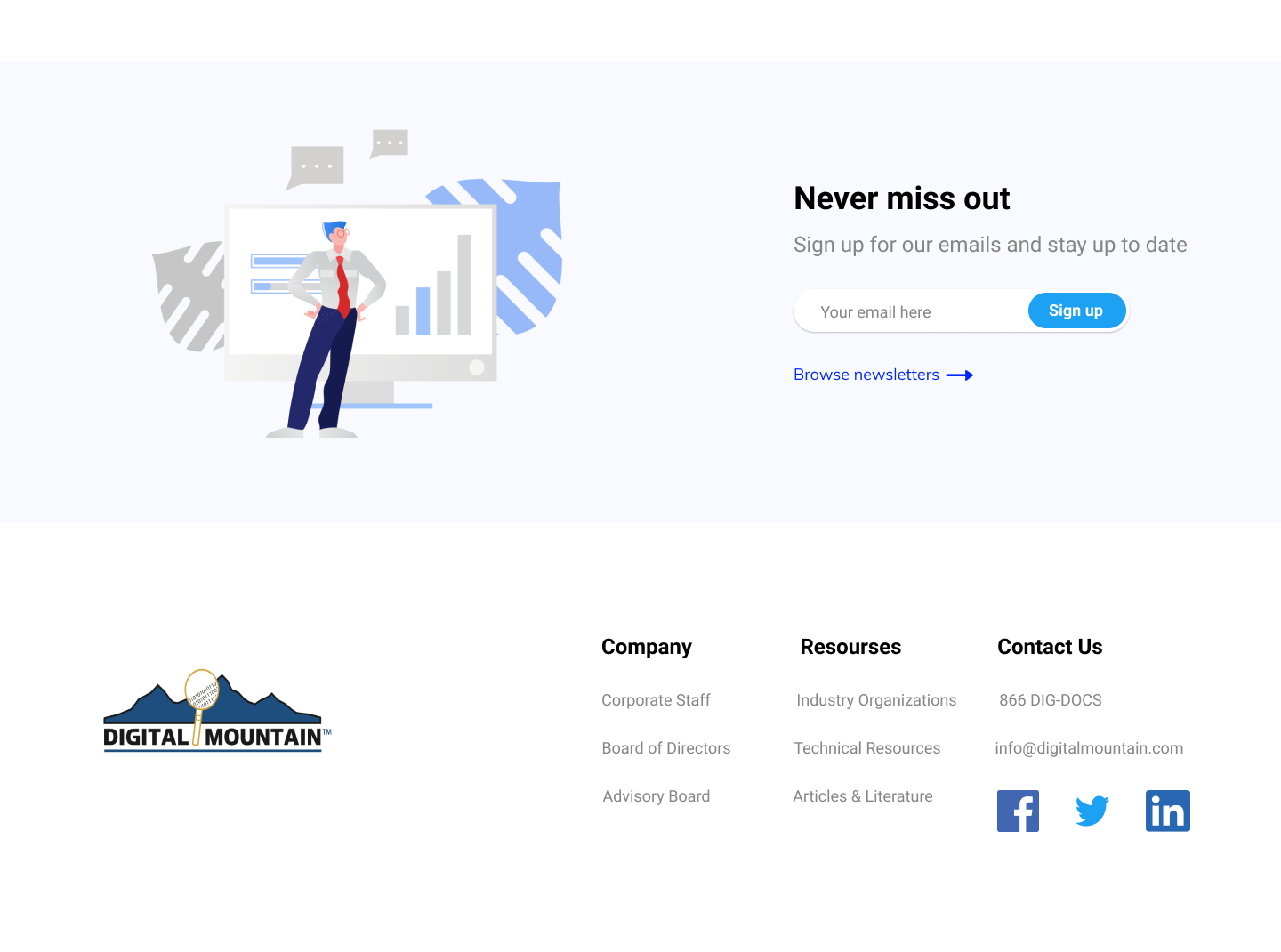 Landing Page Concept for Computer Forensics Company