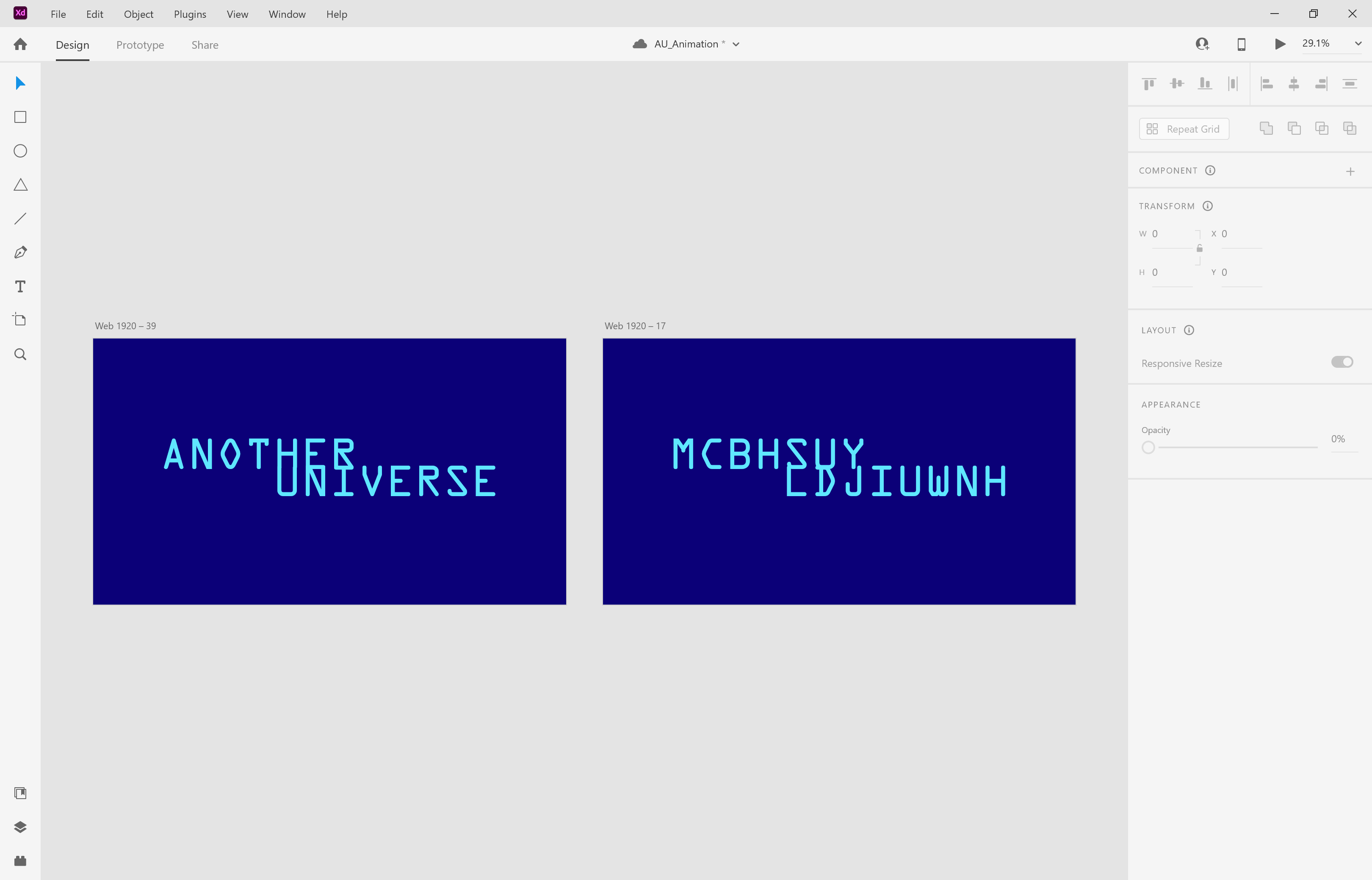 Left: how we want the full logo to look like.Right: our initial frame.