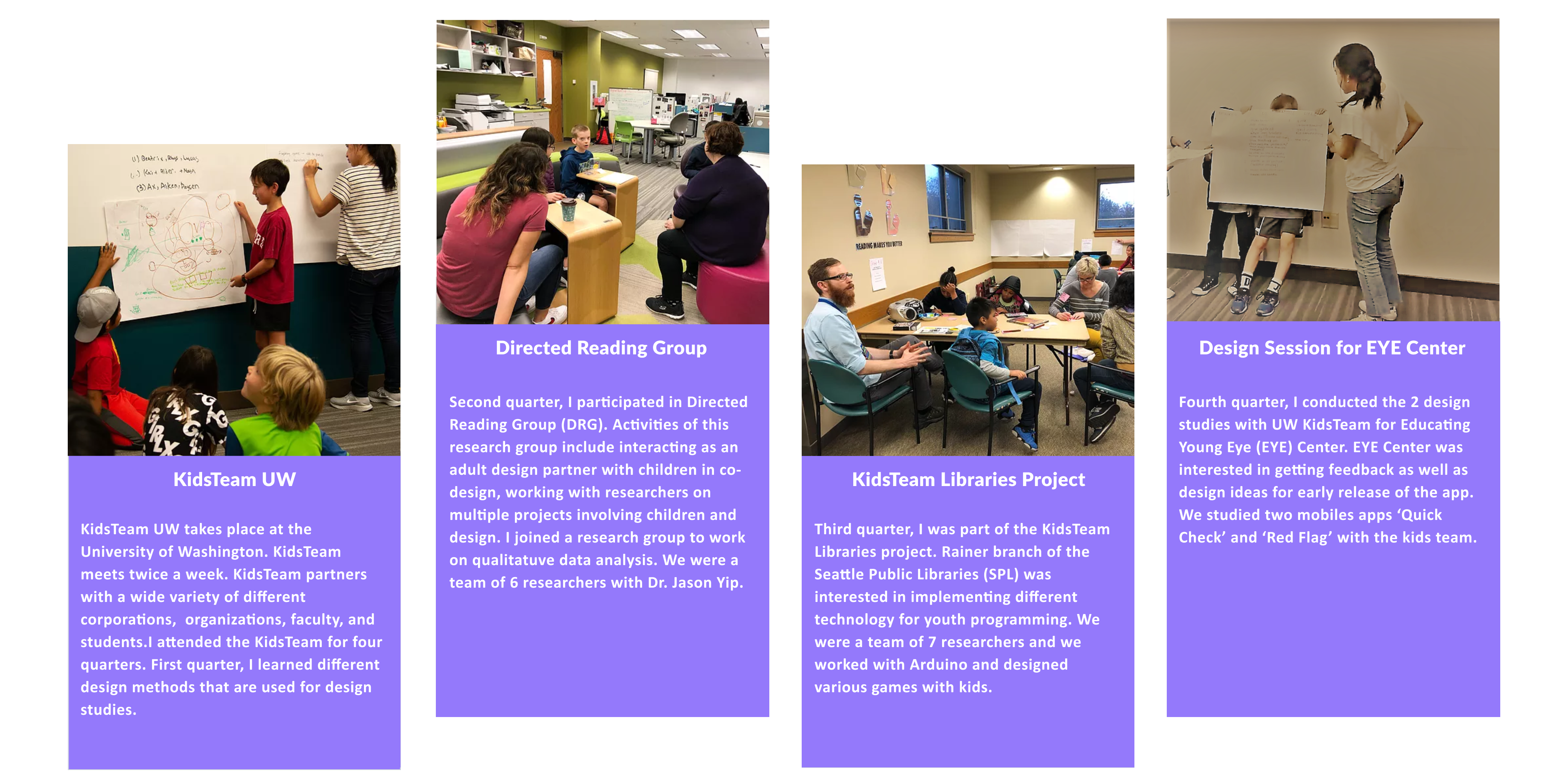 Participatory Design with KidsTeam at UW Seattle