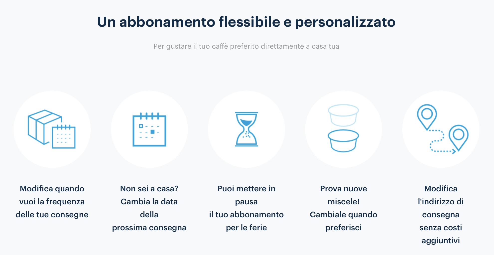 The great advantageof Lavazza da te is a flexibility and personalized program