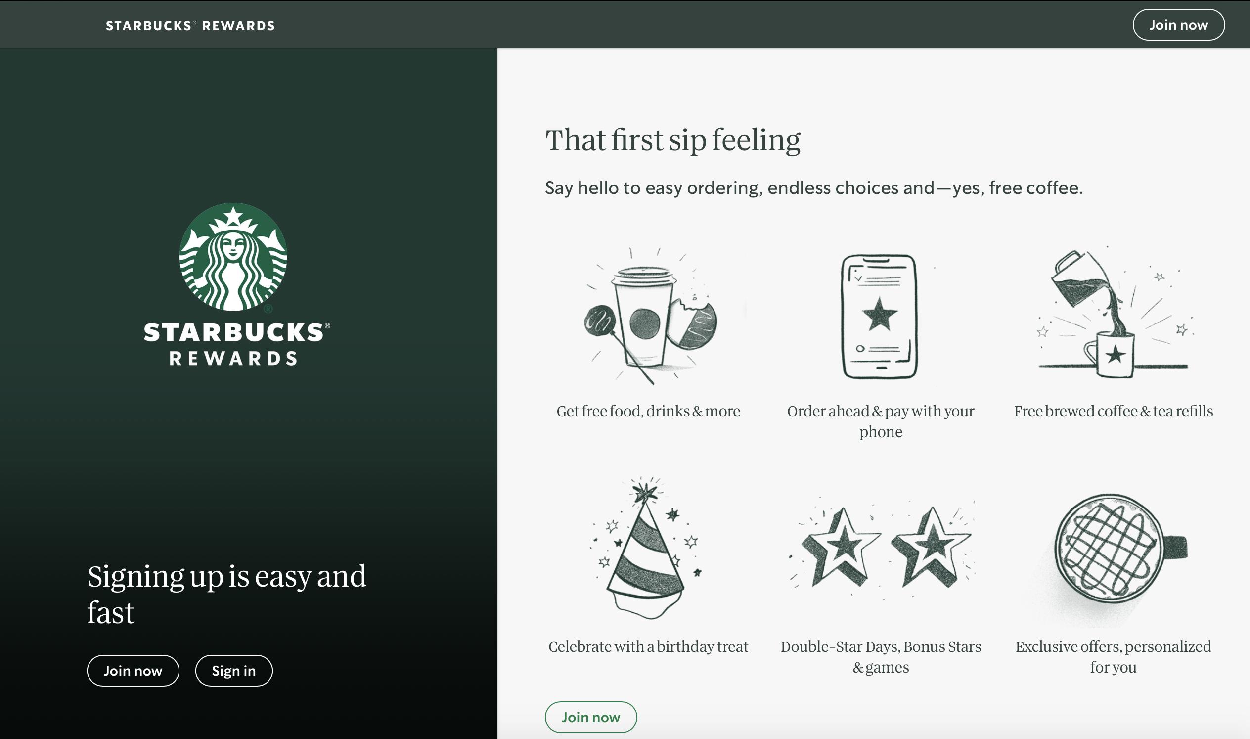 Starbucks Rewards: facilities to pay and lots of bonus