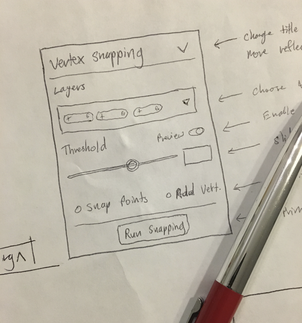 Designing a Vertex Snapping Tool