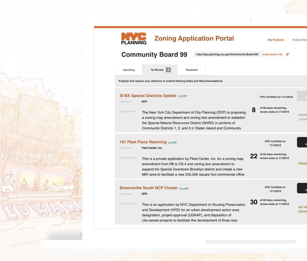 Zoning Application Portal    Pt 1,  Public Review