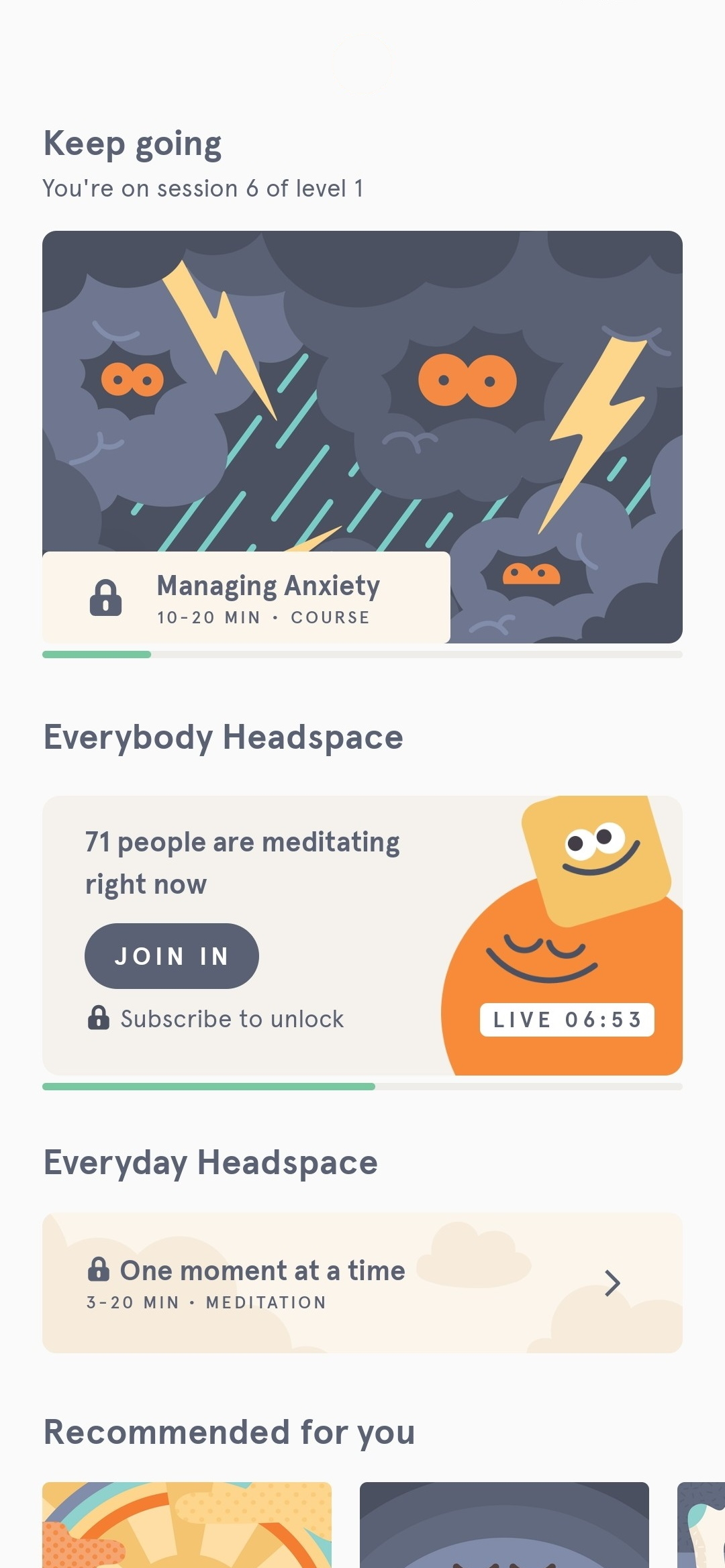 Headspace Android app (2020)
