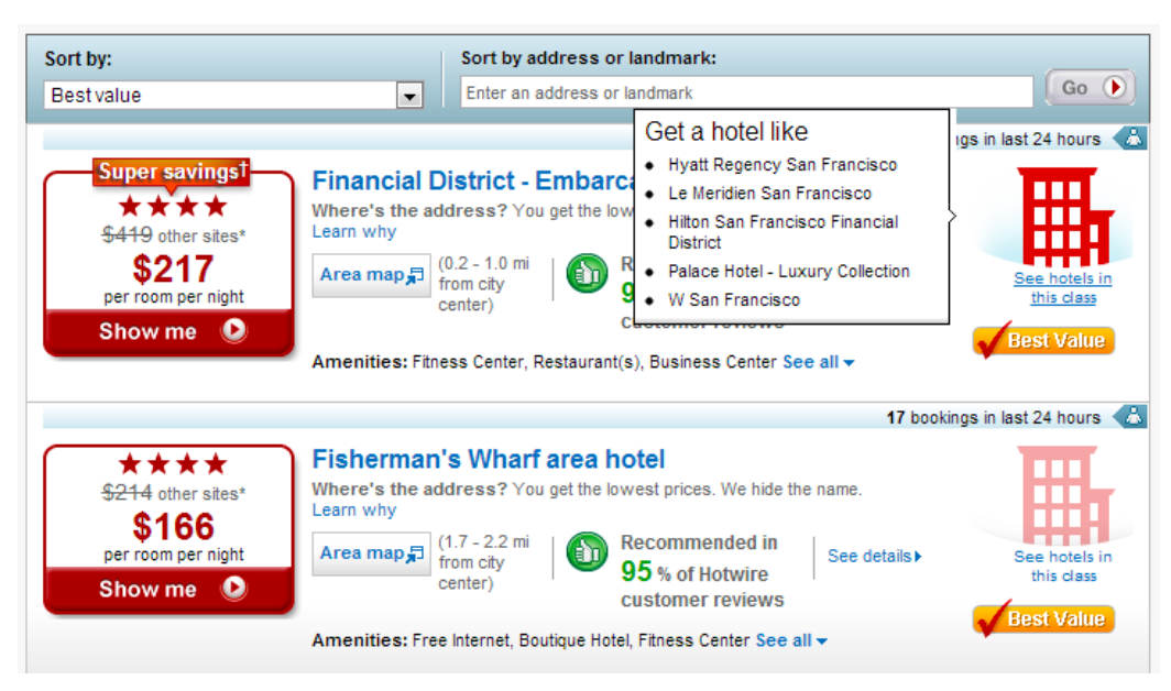 Hotwire hotel search results in 2011