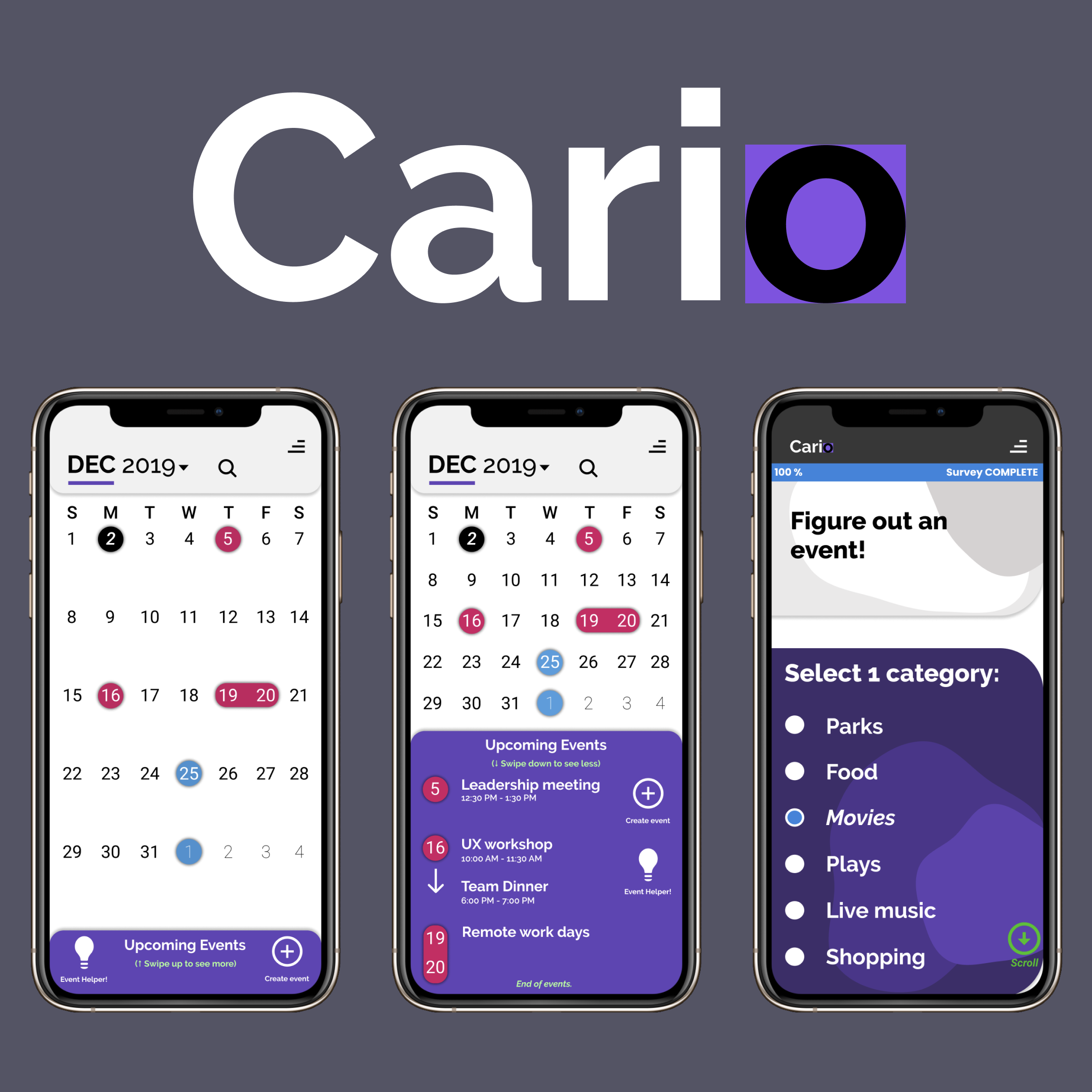 Cario: The calendar that helps you decide what to do