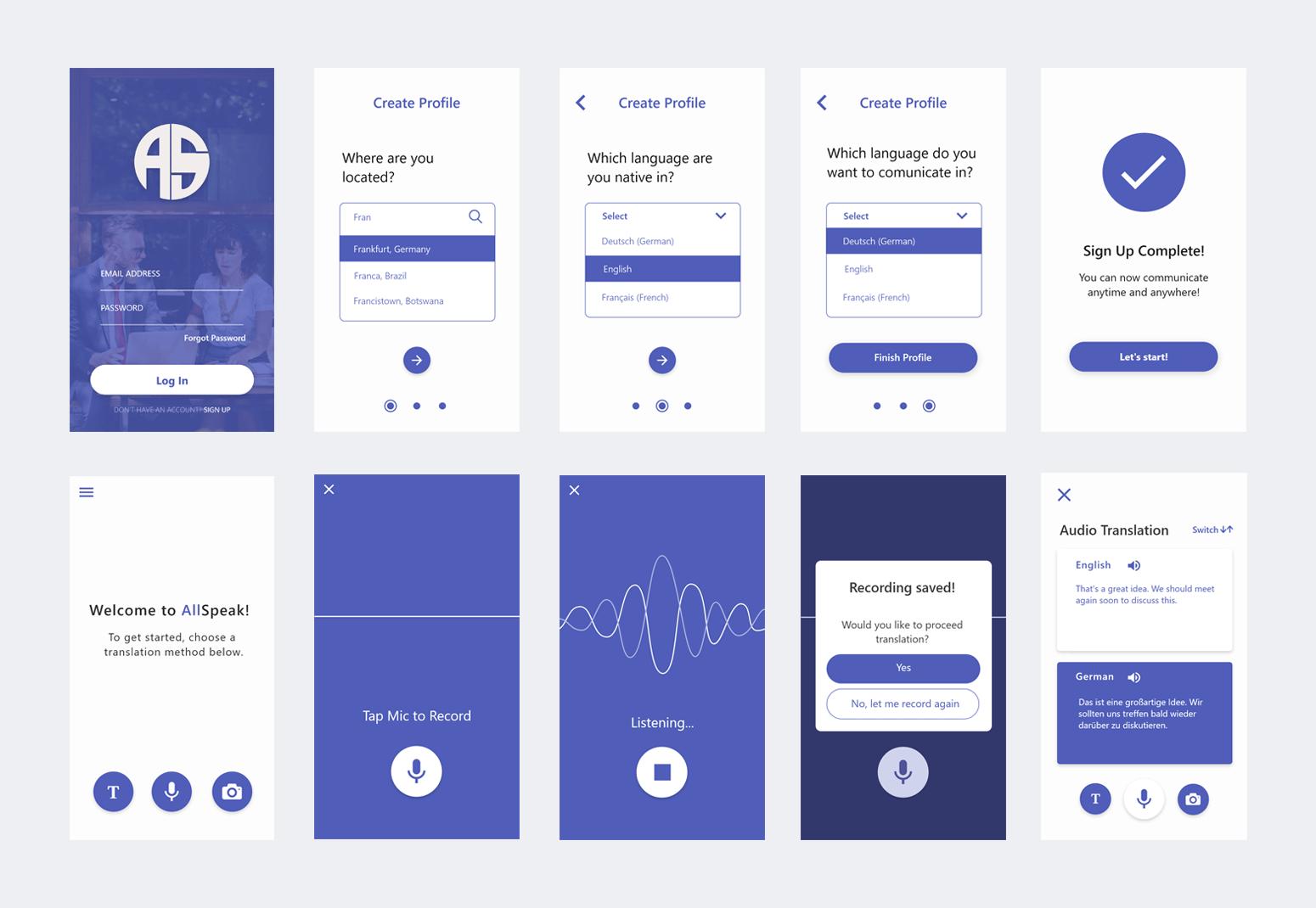 AllSpeak: A Pocket Translator App